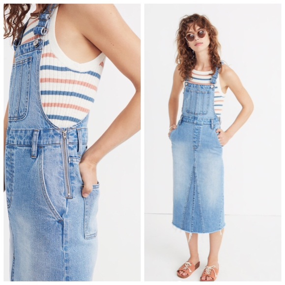 de9841050c9 reconstructed overall jumper in Louella wash